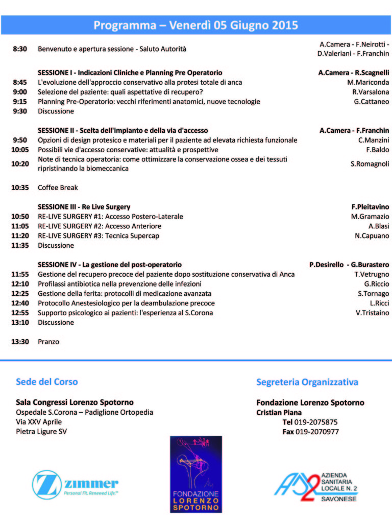 Congresso Fondazione Spotorno Anca 2